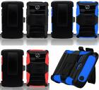 Phone Cover HYBRID Case with HOLSTER BELT CLIP FOR LG Sunrise L15G / Lucky L16C