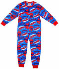 Boy's Marvel SPIDERMAN Whoosh All in One Cotton Sleepsuit Romper 3-10 Years NEW