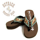 Gypsy Soule CW-Arena Embellished Flip Flop in Brown