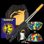 Starter Harlequin Diabolo Pack, Metal Diablo Sticks, 10m String, Booklet & Bag