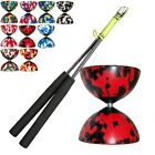 Mr Babache Rubber Harlequin Diabolo Pack, JD Carbon Diablo Sticks & String