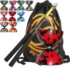 Babache Medium Harlequin Diablo Toy Pack, JD Carbon Diabolo Sticks & Bag