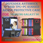 ACM-DEFENDER ANTISHOCK HYBRID TPU+PC RUGGED ARMOR CASE & STAND for SAMSUNG S6