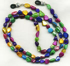 COLORFUL Mother of Pearl Eyeglass~Glasses Holder Necklace Chain CUSTOM LENGTH