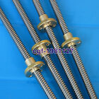 3D Printer 8mm Lead Screw Rod 100 to 600mm -4 Start Z Axis Linear Rail Bar Shaft