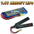 7.4V Airsoft LiPO Battery 800 to 2600mAh Custom Connector Giant Power VapexTech