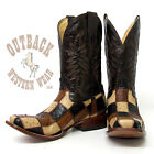 Corral Multi Colored Patchwork Ostrich Boots C2314