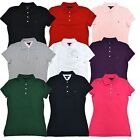 Tommy Hilfiger Womens Classic Fit Polo Short Sleeve Solid Shirt Mesh Casual New