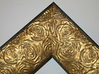 "2.3"" Aged Gold Rose Ornate Wood Canvas Frame Picture Frame-Custom Made Panoramic"