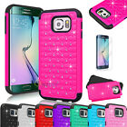 Hybrid Rugged Bling Hard Protective Case Cover For Samsung Galaxy S6 / S6 Edge