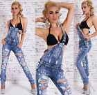 SeXy LATZ-Jeans Latzhose Overall Jumpsuit BLUE WASHED Gr. 34 36 38 40 42