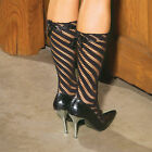 Sexy Black Seamless Sock with Satin Bow Detail One Size