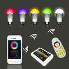 4x E27 Milight 2.4G 9W RGBW RGB White LED Bulb+ RF Touch Remote+ WIFI Controller