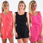 Ladies Sexy Celeb Jumpsuit Party Evening Summer Chiffon Playsuit Short Dress