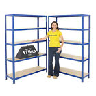 2 Bay Garage Shelving Storage Units Workshop Heavy Duty Racking Mega Deal BiGDUG