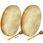 Frame Drum with leather beater, Frame Drum, Shaman Drum, Bodhran, Beater