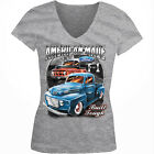 American Made Built Tough Ford F-1 Trucks Classic Girls Junior V-Neck T-Shirt