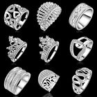 1Pc Fashion Womens 925 Sterling Silver CZ Ring US Size 7 8 Jewelry Wedding Gift
