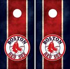 Boston Red Sox Cornhole Board Decal Wrap Wraps