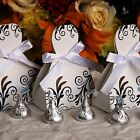 50 Dress Party Favor Boxes for Weddings, Quinceaneras, Bridal Showers