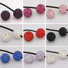 Pretty Quality Crystal Rhinestones Pave Clay Round Disco Ball Spacer Beads