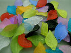 18mm 70/100/../500pcs ASSORTED FROSTED ACRYLIC PLASTIC LEAF BEADS TZ1714