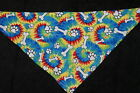 Dog Bandana, OVER THE COLLAR,clothes, pet, Size S,M,L,XL, Bones on Tie Dye!