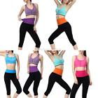 Fashion Women's Elastic Fitness Running Yoga Trousers Slim Pants Cropped Legging