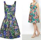 Darling Alice Floral Dress UK 10 - UK 16 Jade / Saphire Flared Occasion Wedding