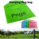 BRIGHT HANGING PEG BAG - HANGING STORAGE BAG BASKET CLOTHES LINE WASHING HANG