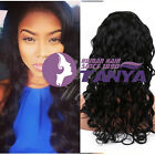 2015 Long Natural  Wave 100% Brazilian Remy Human Hair Front Lace Wigs Baby Hair