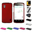 For LG Nexus 4 E960 - Stylish Rigid Rubberized Multicolor Assorted Various Cases