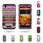 For ZTE Max / Boost Max - Extra Rugged Heavy Duty Dual Layer Hybrid Cover Case