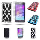 For Samsung Galaxy Note 4 - Hybrid and Screen Protector Tough Protective Case