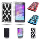 For Samsung Galaxy Note 4 - Combination and Screen Protector Tough Protective Case