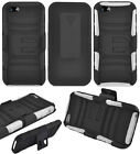 Quality Phone Cover HYBRID Case with HOLSTER BELT CLIP FOR APPLE IPHONE 5 / 5S