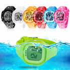 SYNOKE Fashion Color LED Light Waterproof Sport Quartz Wrist Watch Kids Boy Girl