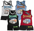 Boys Outdoor Trucker Vest Top & Shorts Summer Outfit Set 3 to 10 Years NEW