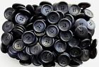 Large 28mm Black Pattern Chunky 44L 4 Hole Buttons Various Pack Size Joblot BB47