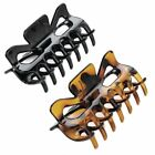 9cm Square Shaped Hair Claw Clip Clamp Hair Accessory -  Black Or Brown