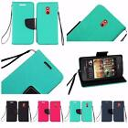 For HTC Desire 612 Premium Leather Flip Wallet Cover Case