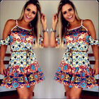 Women Sexy Clubwear Flora Playsuit Bodycon Party Evening Jumpsuit Romper Dress X