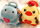 metoo cartoon animal plush toy backpack duck cat baby schoolbag birthday gift 1p