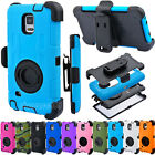Rugged Hybrid Hard Case Cover + Belt Clip Holster For SAMSUNG Galaxy Note 4