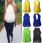 Women's Sheer Sleeve Embroidery Floral Lace Crochet Loose T-Shirt Tops Blouse