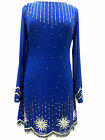 New Blue 1920's Gatsby fully embellished shift dress sizes 8 10 12 14 16 18 20
