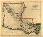 Louisiana 1814 Old Historic State Map - 20x24