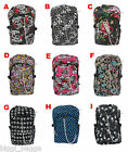 NEW SKULL RUCKSACK Backpack Rock Emo Goth Crossbone Skate Heart College Uni Bag