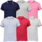Mens Polo T Shirt Jack South Pique Marl Top Collared Short Sleeves Tipped Summer