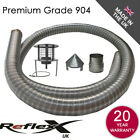 Flexible Flue Chimney Liner Kit Multifuel Anti Down Draught Hanging Cowl 904L